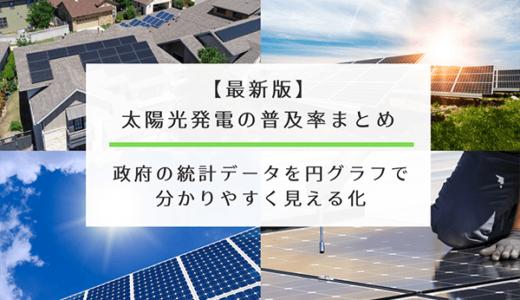 【最新版】太陽光発電の普及率(都道府県別)まとめ|政府の統計データを円グラフで分かりやすく見える化